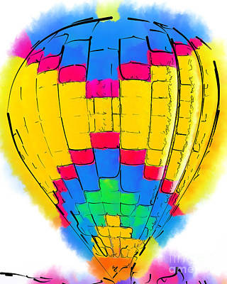 Digital Art - The Yellow And Blue Balloon by Kirt Tisdale