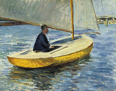 Painting - The Yellow Boat by Gustave Caillebotte
