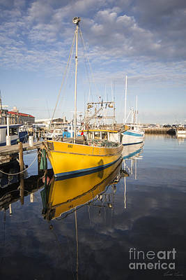 Photograph - The Yellow Boat by Linda Lees