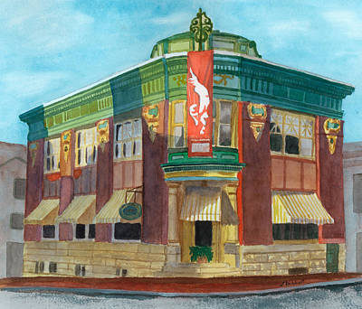Painting - The Yellow Brick Bank Restaurant by Lynne Reichhart