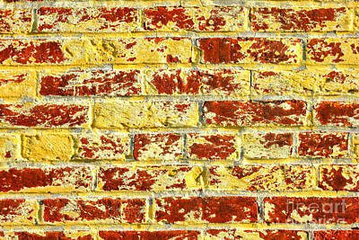 Brick Building Photograph - The Yellow Brick Wall by Olivier Le Queinec