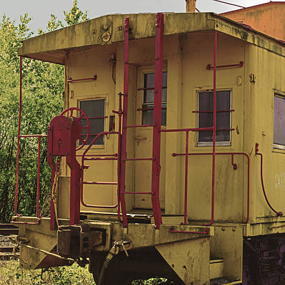 Photograph - The Yellow Caboose by Tikvah's Hope