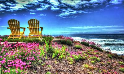 Photograph - The Yellow Chairs By The Sea Version 2 by Thom Zehrfeld