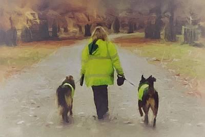Mixed Media - The Yellow Coats by YoursByShores Isabella Shores
