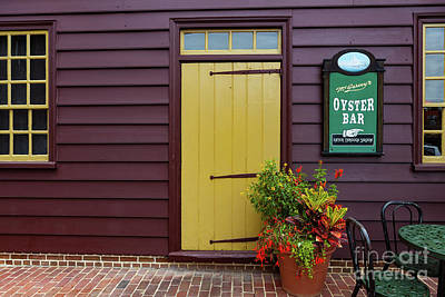 Photograph - The Yellow Door In Annapolis by George Sheldon