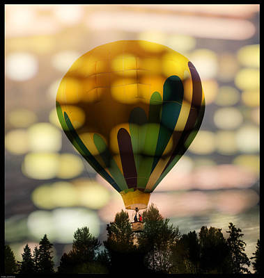 Photograph - The Yellow Hot Air Balloon by Thom Zehrfeld