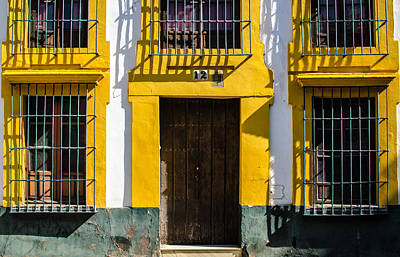 Blue Photograph - The Yellow House by Andrea Mazzocchetti