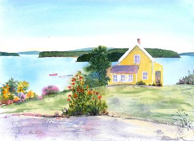 Painting - The Yellow House by Diane Kirk
