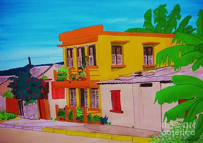 Streetscenes Painting - The Yellow House by Michaela Bautz