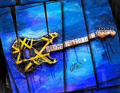 Van Halen Digital Art - The Yellow Jacket by Gary Bodnar