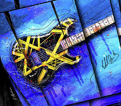 Van Halen Digital Art - The Yellow Jacket_cropped by Gary Bodnar