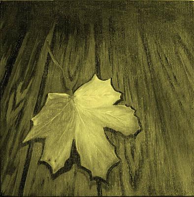 The Yellow Leaf Art Print by Ninna