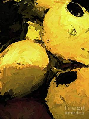Digital Art - The Yellow Lemons With The Black Spots by Jackie VanO