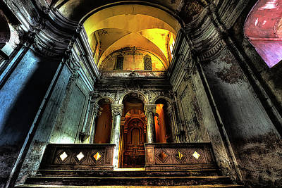 Photograph - The Yellow Light Church 1 - La Chiesa Della Luce Gialla 1 by Enrico Pelos