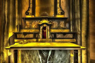 Photograph - The Yellow Light Church 3p - La Chiesa Della Luce Gialla 3p by Enrico Pelos