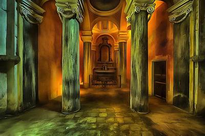 Photograph - The Yellow Light Church 2p- La Chiesa Della Luce Gialla 2p by Enrico Pelos