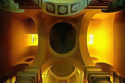 Photograph - The Yellow Light Church 4p- La Chiesa Della Luce Gialla 4p by Enrico Pelos