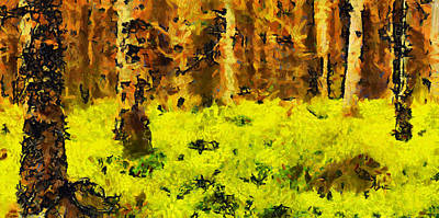 The Yellow Love Nest - Inside The Magic Forest - Painting Original by Sir Josef - Social Critic -  Maha Art