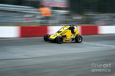Photograph - The Yellow Mini by Wayne Wilton