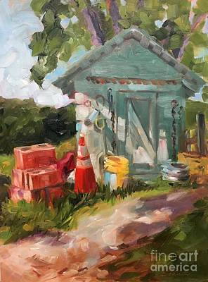 Painting - The Yellow Pail by Lynne Schulte