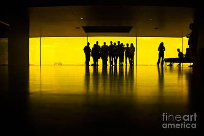 The Yellow Room Guthrie Theater Minneapolis  Art Print by Wayne Moran