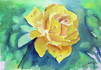 Painting - The Yellow Rose by Allison Ashton