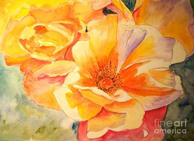 The Yellow Rose Art Print by Carol Grimes