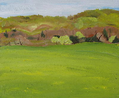 Eastern Townships Painting - The Yellow Season by Francois Fournier
