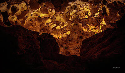 Photograph - The Yellow Surprise - Carlsbad Caverns by Tim Bryan