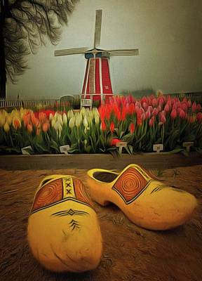 Photograph - The Yellow Wooden Shoes by Thom Zehrfeld