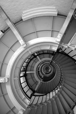 Photograph - The Yin And Yang Of Lighthouse Stairs by rd Erickson