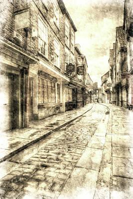 Photograph - The York Shambles Vintage by David Pyatt