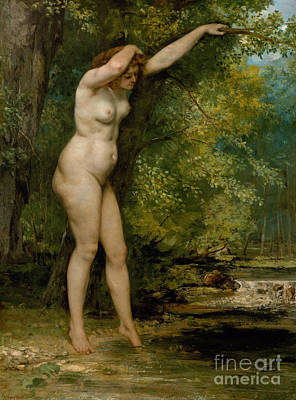 1866 Painting - The Young Bather, 1866 by Gustave Courbet