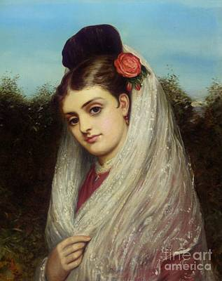 Charles Sillem Lidderdale Painting - The Young Bride by MotionAge Designs