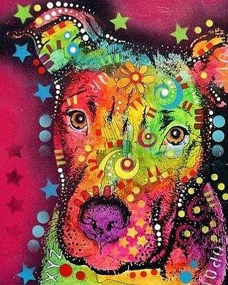 Pit Bull Mixed Media - The Young Bull by Dean Russo