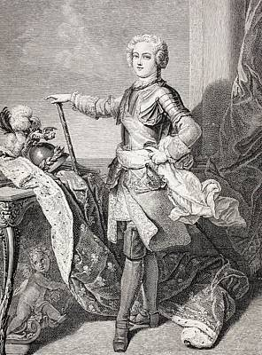 Youthful Drawing - The Young King Louis Xv Of France, 1710 by Vintage Design Pics