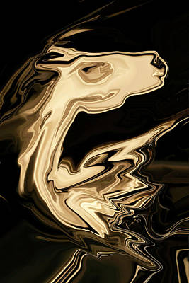 Art Print featuring the digital art The Young Pegasus by Rabi Khan
