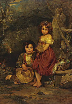 Painting - The Young Picnickers by William Frederick Witherington