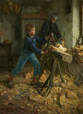 African American Artist Wall Art - Painting - The Young Sabot Maker by Henry Ossawa Tanner