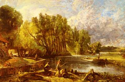 Painting - The Young Waltonians by Constable John