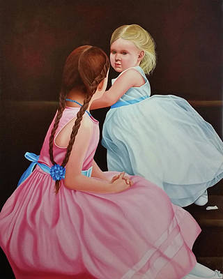 Painting - The Youngest Bridesmaid by Vic Ritchey