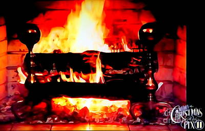 Photograph - The Yule Log by Ed Weidman
