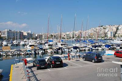 Photograph - The Zea Marina In Athens by David Fowler