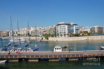 Photograph - The Zea Marina In Athens Greece by David Fowler