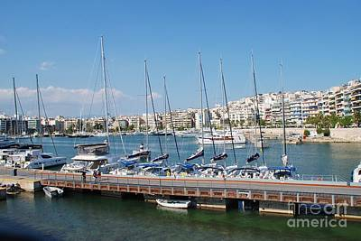 Photograph - The Zea Marina In Piraeus Athens by David Fowler