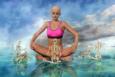Surrealism Digital Art - The Zen Girl by Betsy Knapp