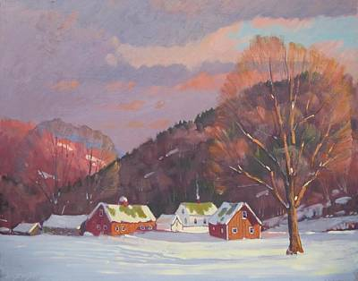 Berkshire Hills Painting - The Zieminski Farm by Len Stomski