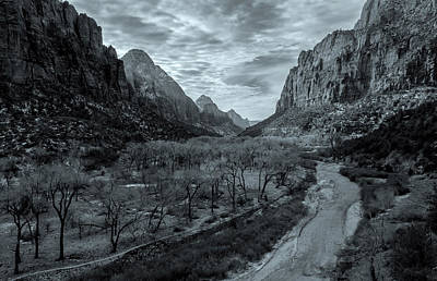 Photograph - The Zion Valley Bw by Jonathan Nguyen