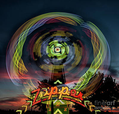 The Zipper Motion Art By Kaylyn Franks Art Print