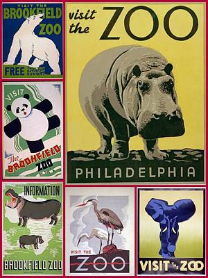 The Zoo 1930s And 1940s Poster Art Art Print